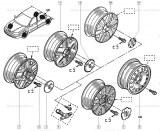 Enjoliveur de roue Renault Ref 8200052357