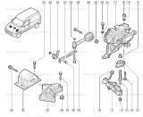 Tirant antiglissement Renault Référence: 8200205564