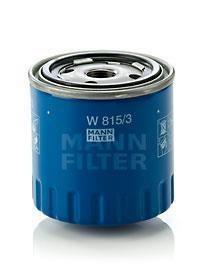 filtre huile mann filter ref w815 3 destock pi ces 24. Black Bedroom Furniture Sets. Home Design Ideas